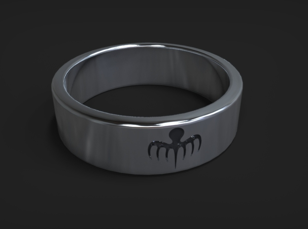 Spectre Ring size 12 (UK size Y) in Polished Silver