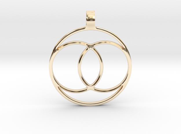 [The 100] Coalition Symbol Pendant in 14K Yellow Gold