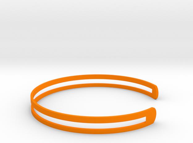Bracelet Ø53 mm XS/Ø2.086 inch in Orange Processed Versatile Plastic
