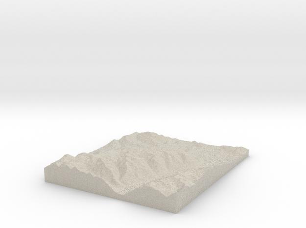 Model of 2nd Basin in Natural Sandstone