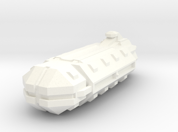Sci-Fi Freighter/Carrier in White Processed Versatile Plastic
