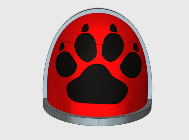 Wolf Paw Print - Gen4:Maximus Shoulder x10 in Smooth Fine Detail Plastic