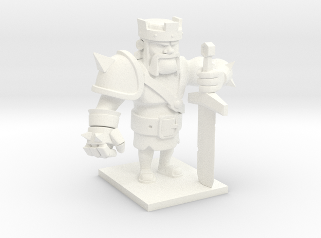 Barbarian King  in White Strong & Flexible Polished