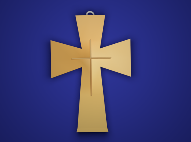 The Cross in Polished Brass