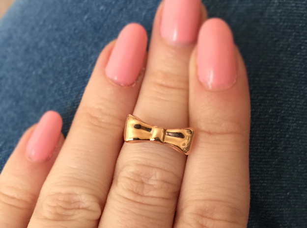 Bow Midi Ring in 14k Rose Gold Plated