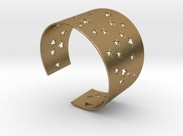 Starry Night Bracelet Ø78 Mm XXL/Ø3.07 inch XXL in Polished Gold Steel