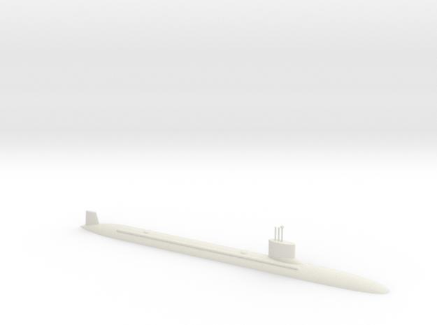 1/600 Virginia Class Submarine (Waterline) in White Natural Versatile Plastic