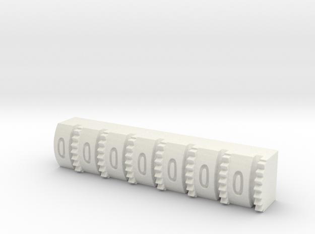 Hengstler Counter 7 Number Roller in White Natural Versatile Plastic