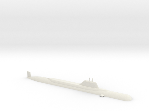 1/600 Yasen Class Submarine (Waterline) in White Strong & Flexible