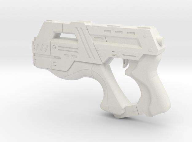 Mass Effect 1:1 M-6 Carnifex Heavy Pistol in White Natural Versatile Plastic