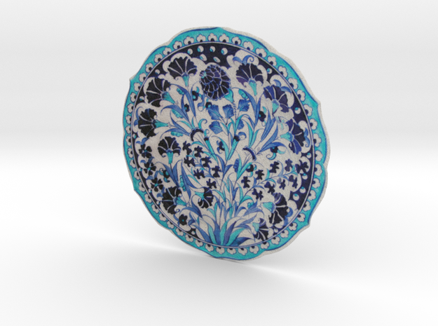 Blue and turquoise Iznik Cini