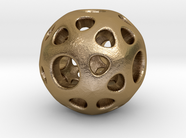hydrangea ball 02 in Polished Gold Steel