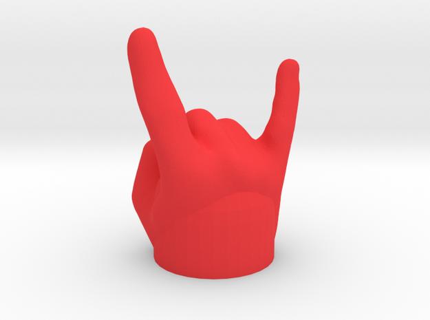Mano Cornuta / gehörnte Hand - Kappe für Anhänger in Red Strong & Flexible Polished