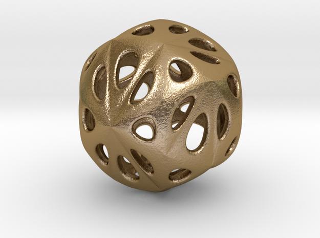 hydrangea ball 04 in Polished Gold Steel