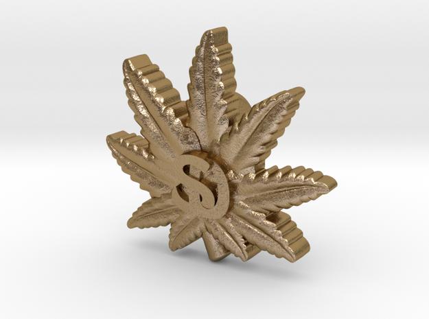 "Leaf Lacelock ""SD"" in Polished Gold Steel"
