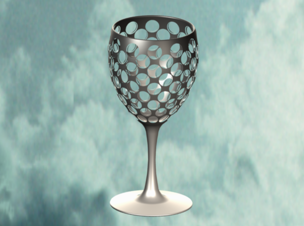 Wine Glass Sieve in White Natural Versatile Plastic
