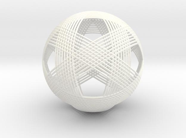 Icosahedron vertex symmetry weave