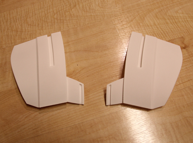 Iron Man Mark IV/Mark VI Collar Armor 3d printed Straight from Shapeways using the Strong & Flexible Plastic