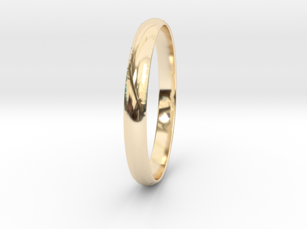 Ring Size 7.5 Design 4 in 14K Yellow Gold