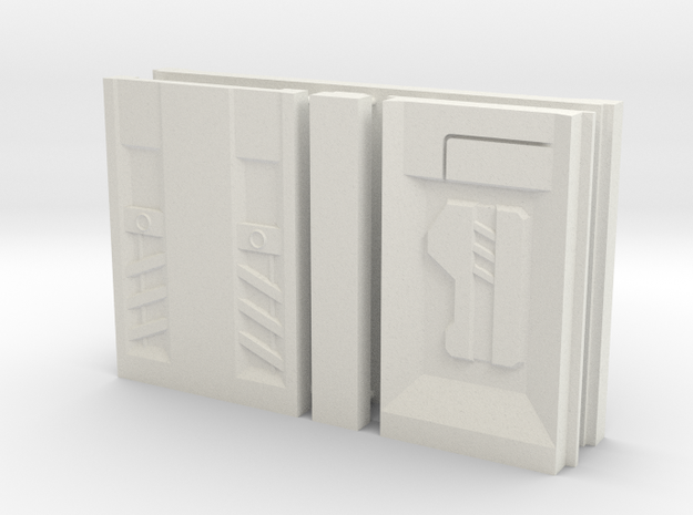 SciFi Pillar And Walls - Tech Wall in White Natural Versatile Plastic