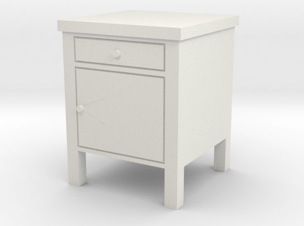 1:24 Hopsital Night Stand in White Strong & Flexible