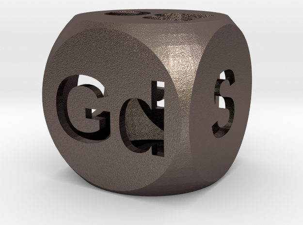 Elemental Doubling Cube (Hollow) in Polished Bronzed Silver Steel