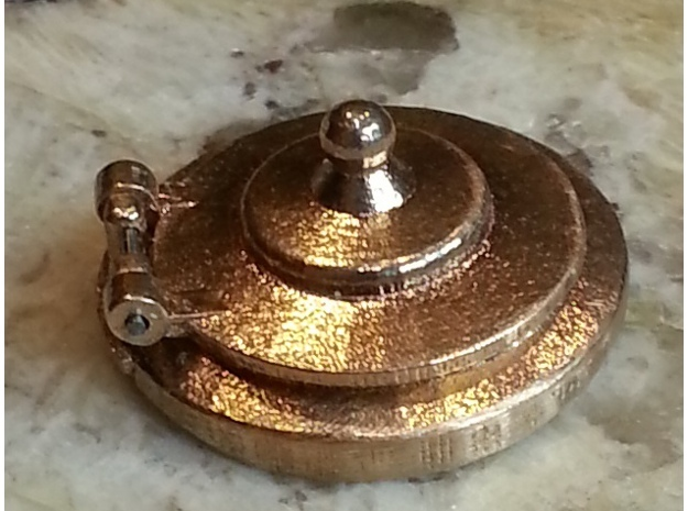 Water Tank Cap  in Natural Brass