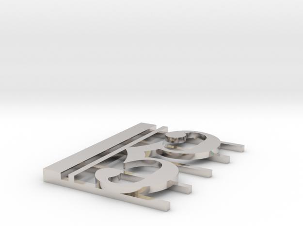 Alto Clef Pendant (1 3/8 Inch) 3d printed