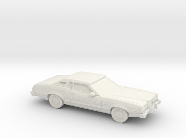 1/48 1974-76 Mercury Cougar in White Natural Versatile Plastic