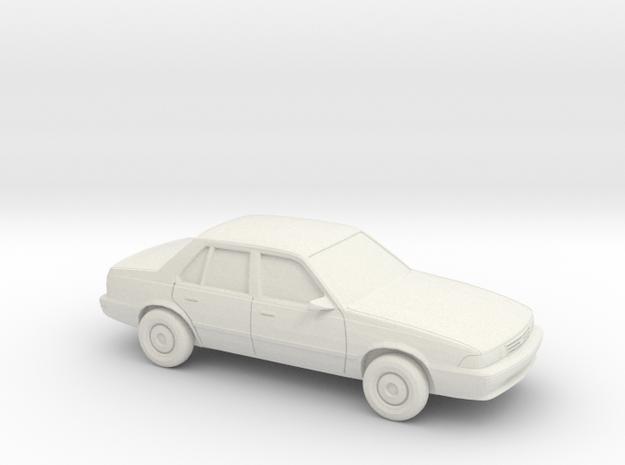 1/87 1988-93 Chevrolet Cavalier Sedan in White Natural Versatile Plastic