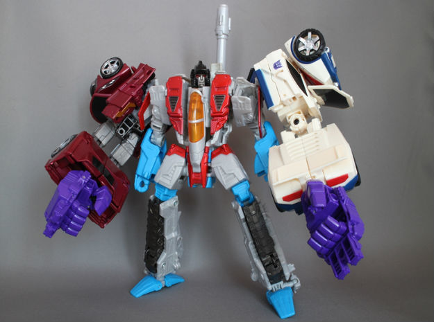 Combiner Wars joint(CW female joint and 5mm peg) in Black Natural Versatile Plastic
