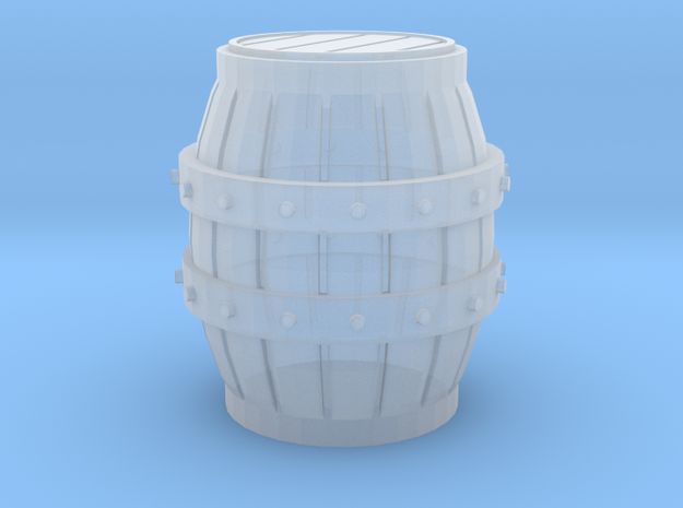 Medieval Barrel miniature in Smooth Fine Detail Plastic