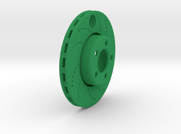 Brake Disc in Green Strong & Flexible Polished