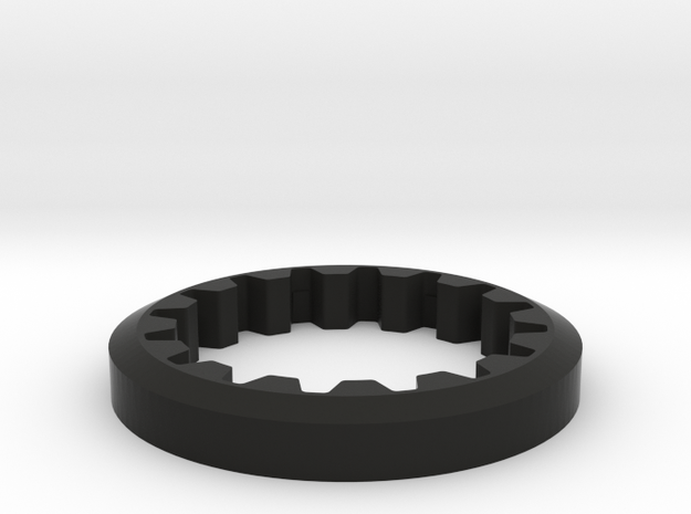 M3R16 Front Pulley Flange in Black Strong & Flexible