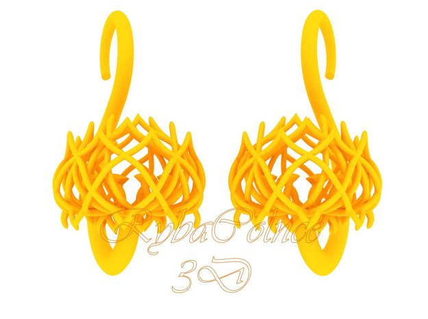 Plugs / gauges/ The Lotus Plug 8g (3.2 mm) in Yellow Processed Versatile Plastic