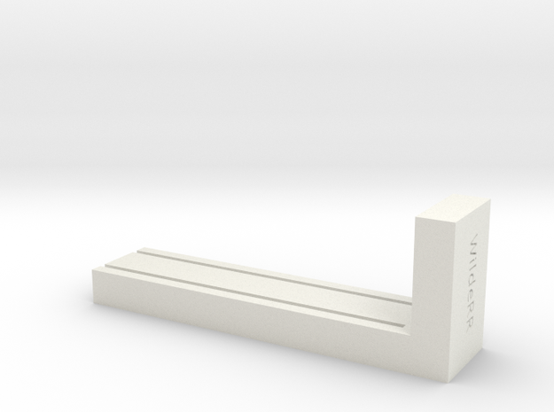 NTrak-End-Lay in White Natural Versatile Plastic