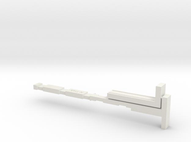 Trak-Lay in White Natural Versatile Plastic