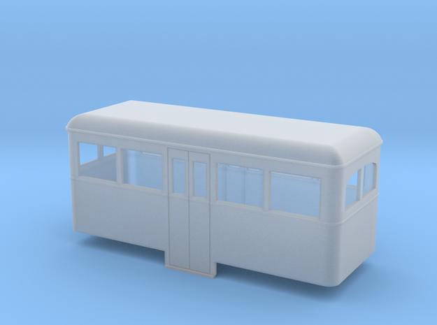 O9/On18 rail bus center car 3d printed