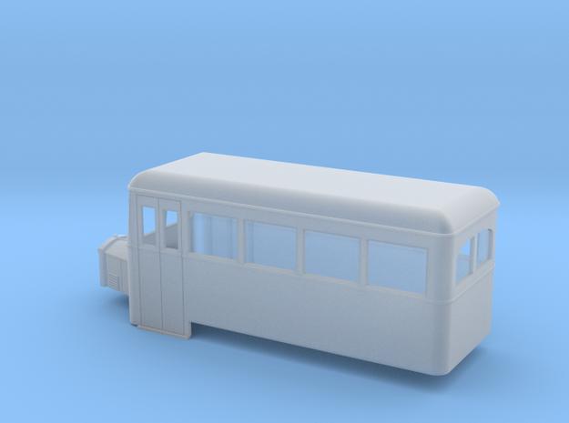 O9/On18 rail bus single end 3d printed