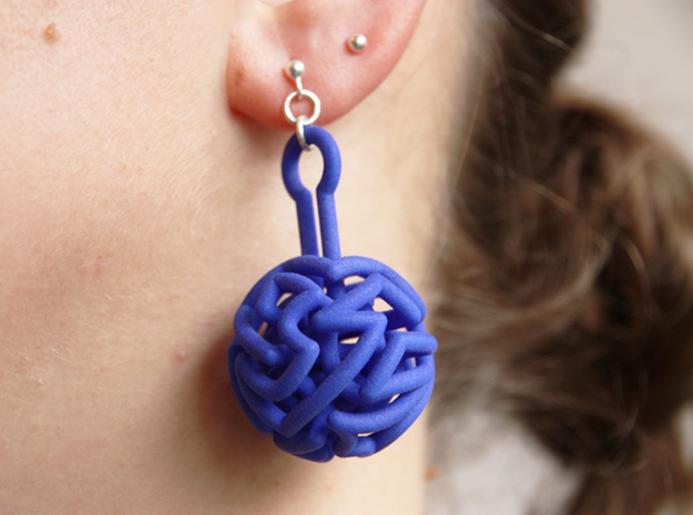 infinite labyrinth pendant in Blue Processed Versatile Plastic