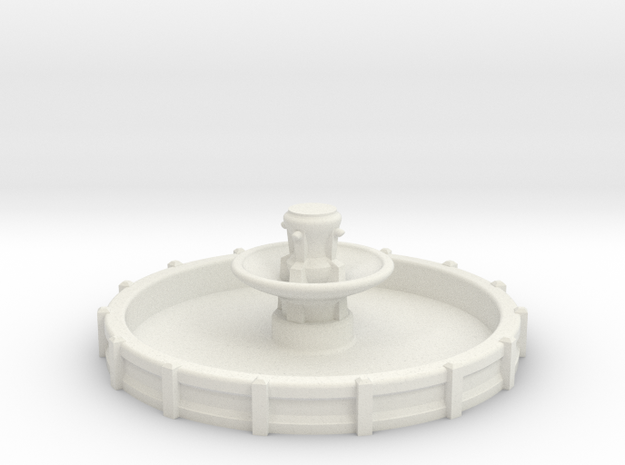 Large N/OO Scale Fountain in White Natural Versatile Plastic: 1:160 - N