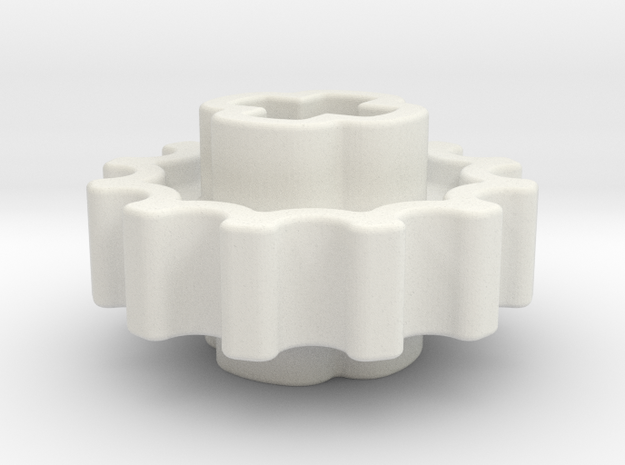 12z Chain Gear in White Natural Versatile Plastic