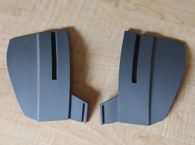 Iron Man Mark IV/Mark VI Collar Armor 3d printed What yours could look like after being Sanded & Primed