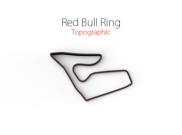 Red Bull Ring | Topographic Large in Full Color Sandstone