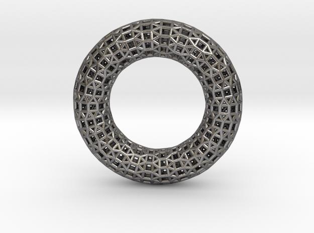 0480 Tilings [3,3,3,4,4] on Torus in Polished Nickel Steel