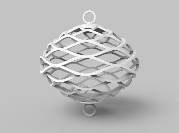 Elasto Ornament 3d printed