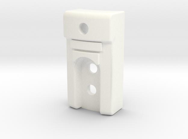KR Lightsaber Emitter V5 Back Piece in White Processed Versatile Plastic