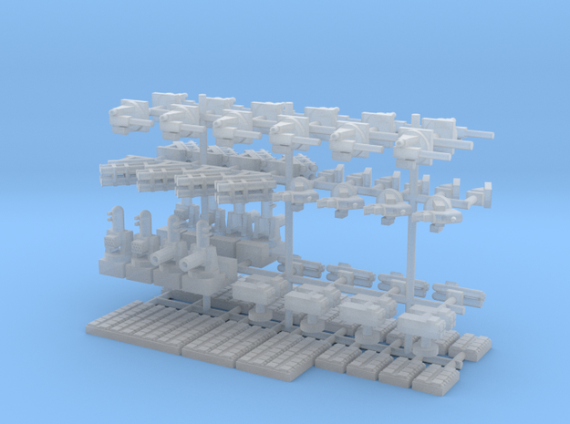 1/500 Modern Naval Weapons Pack in Smooth Fine Detail Plastic