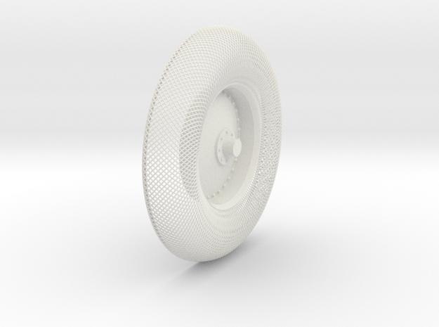 B-LRV wheel : outer mesh & hub in White Strong & Flexible