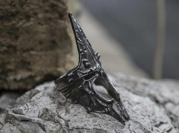 Witch King ring size 8 US in Matte Black Steel